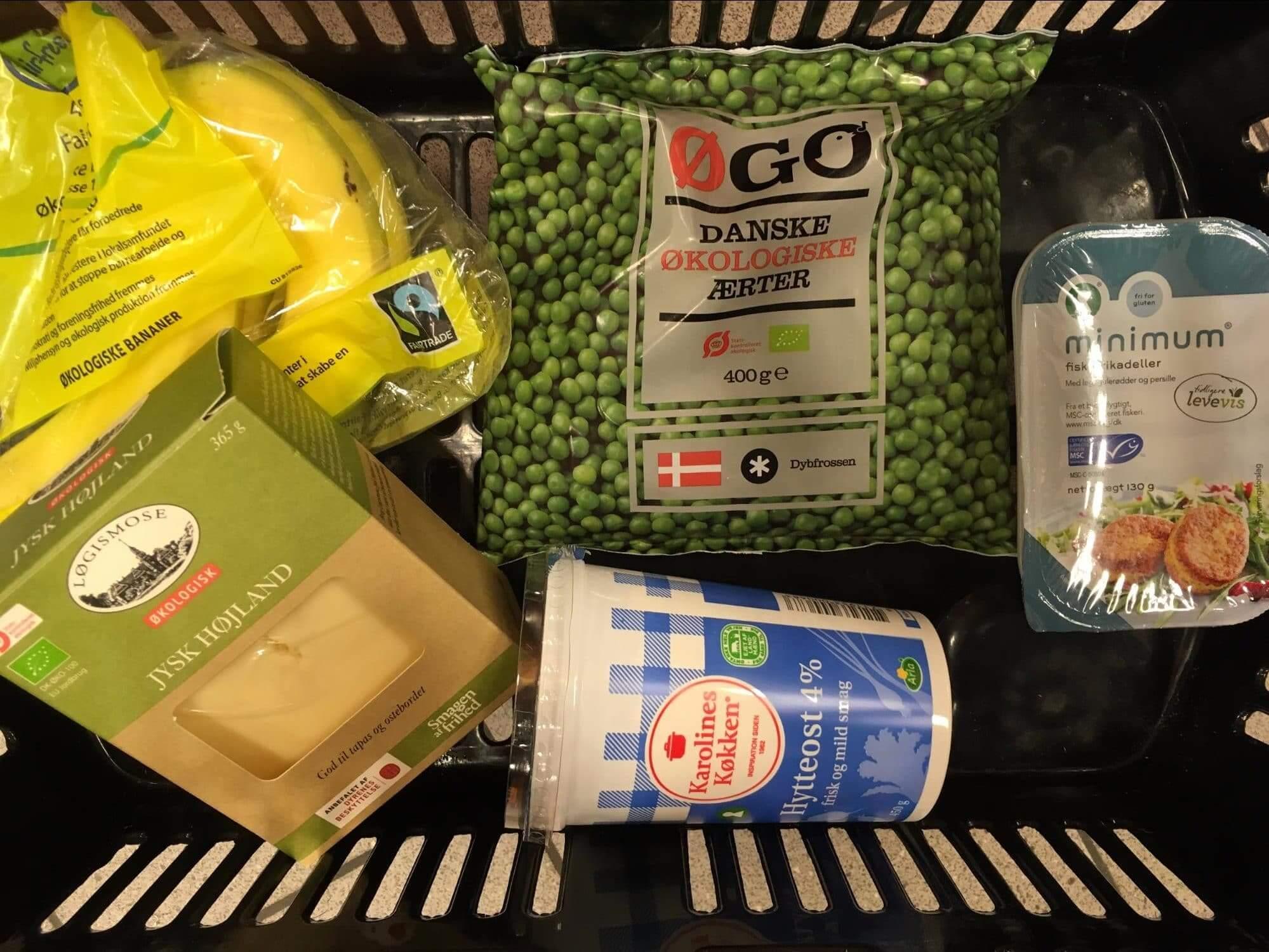 Fødevarer med forskellige fødevaremærker