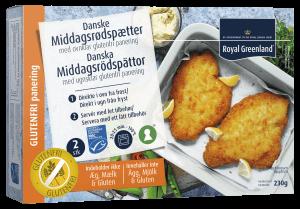 Glutenfri paneret fiskefileter