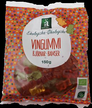 økologiske vingummibamser