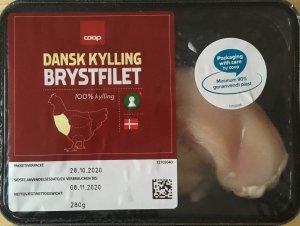 Dansk kyllinge brystfilet fra Coop