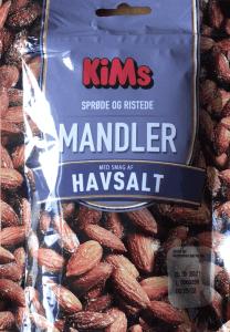 saltede mandler med lidt salt fra Kims