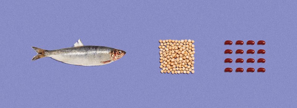 Spis mindre kød-vælg bælgfrugter og fisk